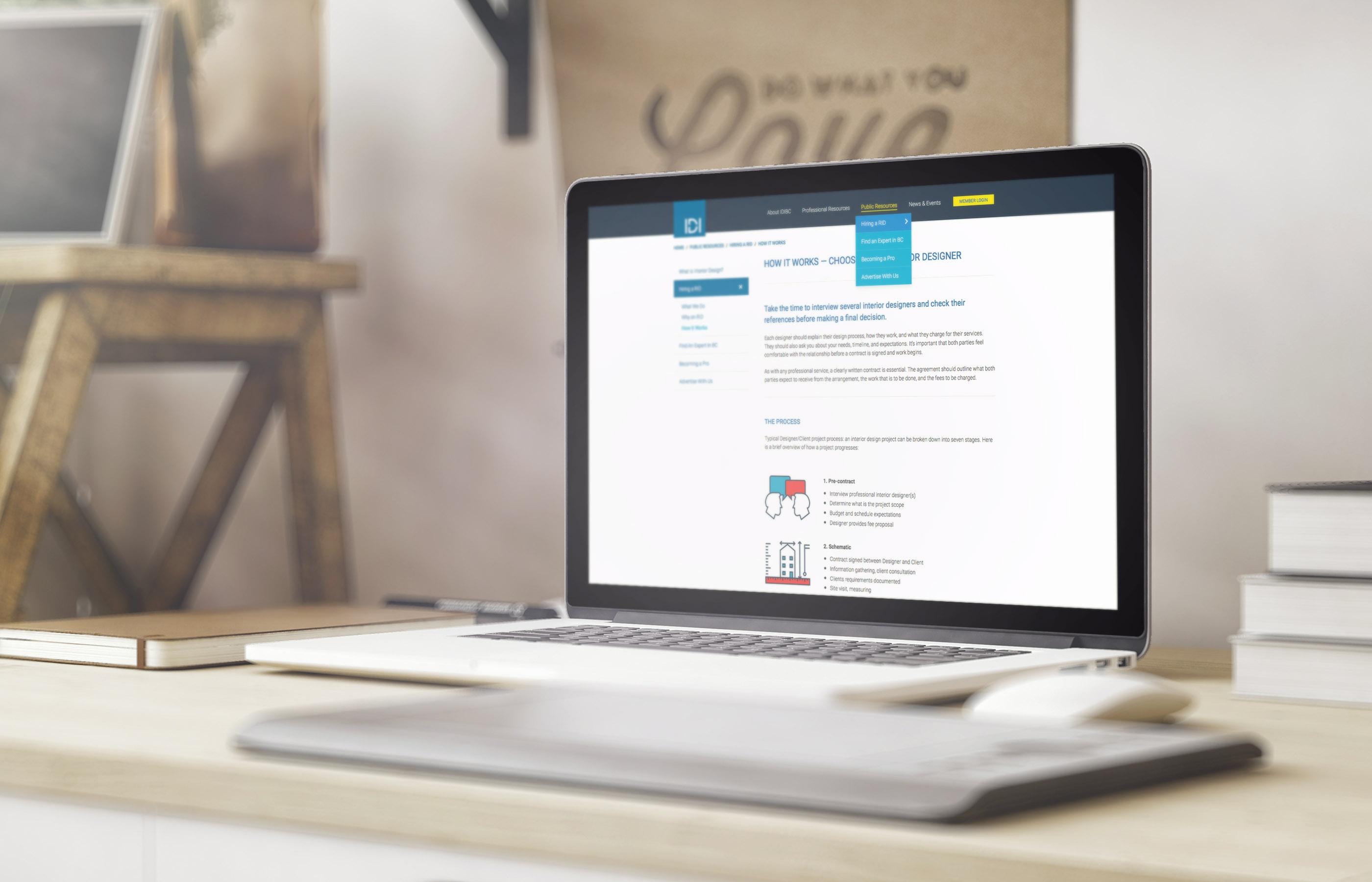 Interior Designers Institute of BC - Website sample 2